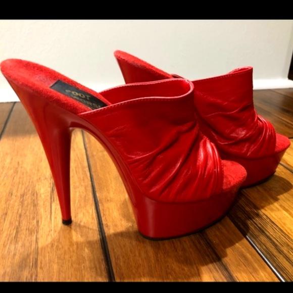 Foot Worship Red Stiletto Platform Heel